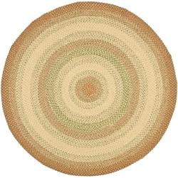 Handwoven Indoor/Outdoor Reversible Multicolor Braided Area Rug (8' Round)