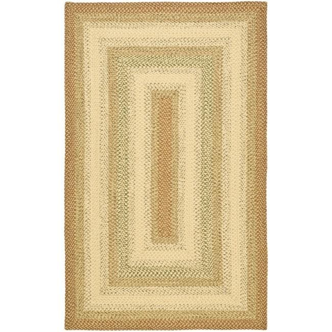 Safavieh Hand-woven Indoor/Outdoor Reversible Multicolor Braided Rug (9' x 12')