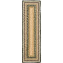 Handwoven Indoor/Outdoor Reversible Multicolor Braided Casual Rug (2'6