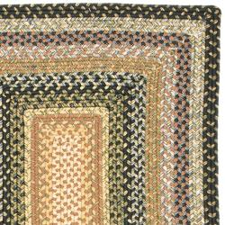 Hand-woven Indoor/Outdoor Reversible Multicolor Braided Rug (2'3 x 8')