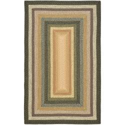 Hand-woven Indoor/Outdoor Reversible Multicolor Braided Rug (5' x 8')