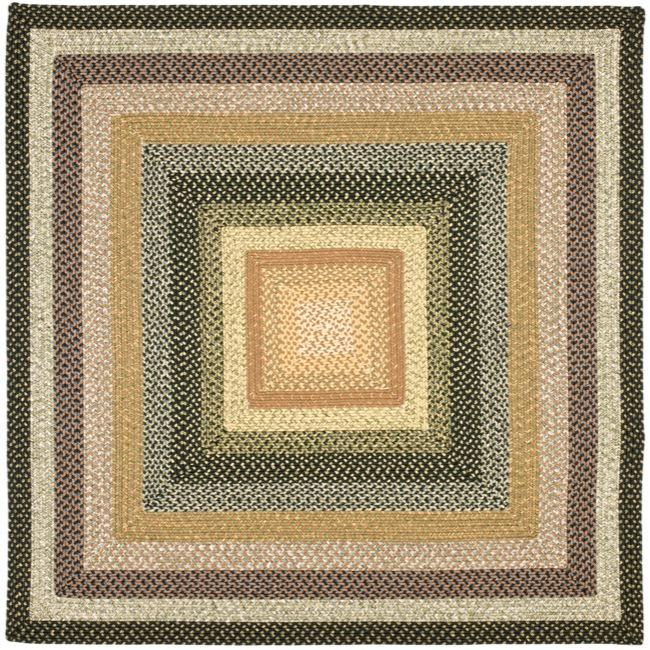 Safavieh Hand-woven Indoor/Outdoor Reversible Multicolor Braided Rug (8' Square)