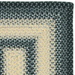 Hand-woven Reversible Multicolor Braided Rug (2'3 x 12')