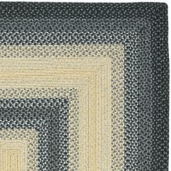 Hand-woven Reversible Multicolor Braided Rug (3' x 5')