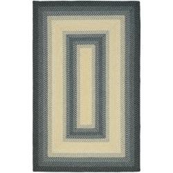 Hand-woven Reversible Multicolor Braided Rug (5' x 8')