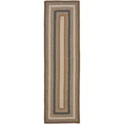 Hand-woven Country Living Reversible Brown Braided Rug (2'3 x 8')