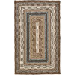 Hand-woven Country Living Reversible Brown Braided Rug (8' x 10')