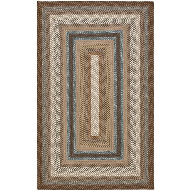 Safavieh hand woven country living reversible brown for 7x9 bathroom designs