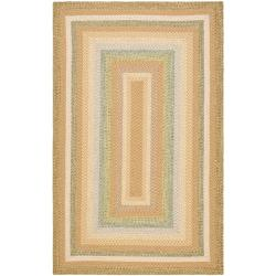 Safavieh Hand-woven Country Living Reversible Tan Braided Rug (3' x 5')