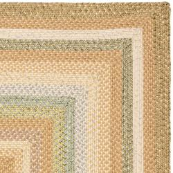 Hand-woven Country Living Reversible Tan Braided Rug (5' x 8')