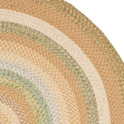 Hand-woven Country Living Reversible Tan Braided Rug (6' Round)