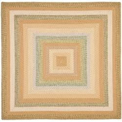 Hand-woven Country Living Reversible Tan Braided Rug (8' Square)