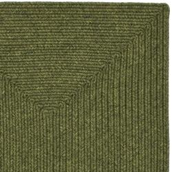 Hand-woven Reversible Green Braided Rug (2'3 x 12')