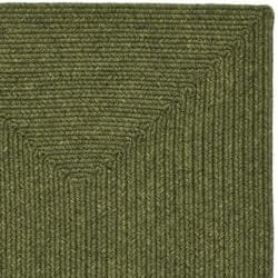 Hand-woven Country Living Reversible Green Braided Rug (2'3 x 8')
