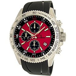 Le Chateau Men's Sport Dinamica Rubber Band Chronograph Watch