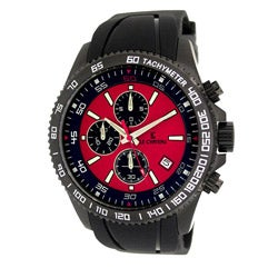 Le Chateau Men's Sport Dinamica Gunmetal Rubber Band Chronograph Watch