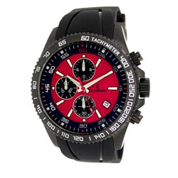 Le Chateau Men's Sport Dinamica Gunmetal Rubber Band Chronograph Watch