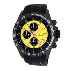 Le Chateau Men's Sport Dinamica Gunmetal Chronograph Watch