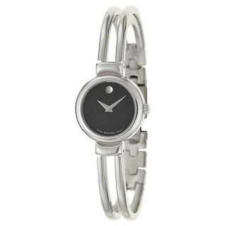 Movado Women's Harmony Stainless Steel Black Dial Watch