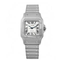 Cartier Men's Santos Stainless Steel White Dial Watch
