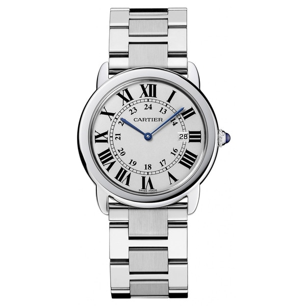 Cartier Women's Rondo Solo Stainless Steel White Dial Watch