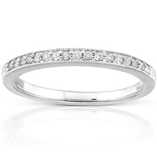 Annello 14k White Gold 1/10ct TDW Diamond Wedding Band (H-I, I1-I2)