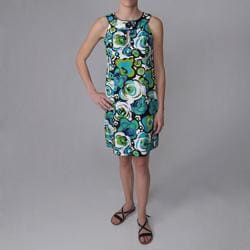 Sangria Brand Floral Print Sleeveless Dress