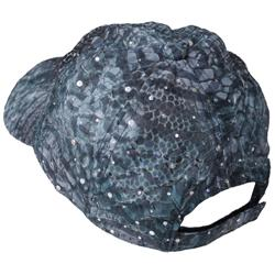 Journee Collection Women's Snake Print and Sequin Accent Baseball Cap