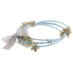 Celeste Stainless Steel Large Aqua Crystal Square Bangle Bracelets (Set of 4)