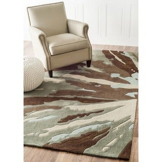 nuLOOM Handmade Norwegian Radiance Brown Rug (7'6 x 9'6)