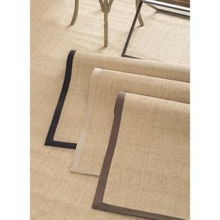nuLOOM Handmade Eco Natural Fiber Cotton Border Sisal Rug (9 x 12)