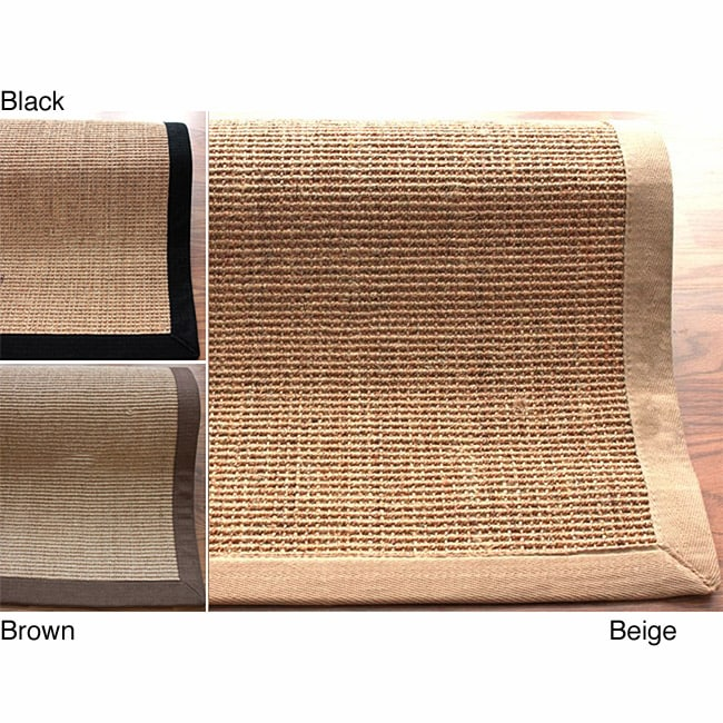 nuLOOM Handmade Alexa Eco Natural Fiber Cotton Border Sisal Rug (4' x 6') at Sears.com