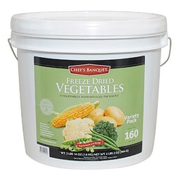 Chef's Banquet Freeze Dried Vegetable Variety Bucket (160 Servings)