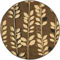 "Indoor/Outdoor Brown/Black Polypropylene Rug (6'7"" Round)"