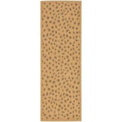 Safavieh Indoor/ Outdoor Natural/ Leopard Print Runner (2'4 x 6'7)