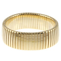 Celeste 18k Gold Overlay Wide Omega Stretch Bracelet
