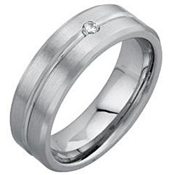 Cobalt Men's Diamond Accent Comfort Fit Wedding Band
