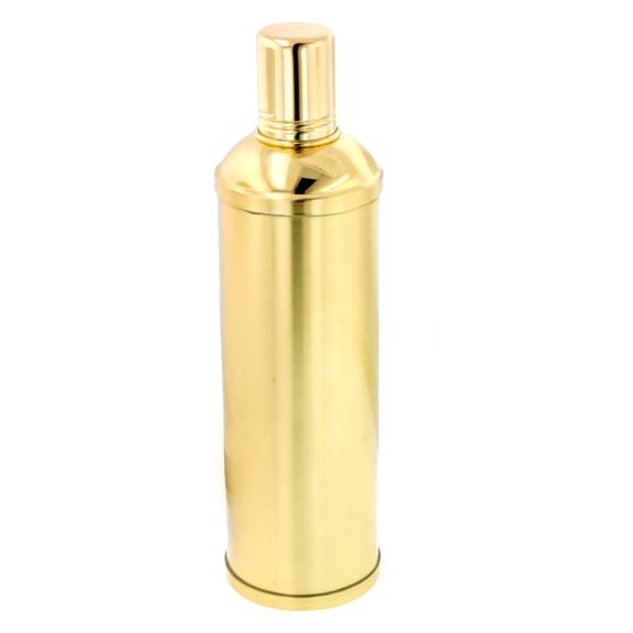 Stainless-steel Gold-plated 10-ounce Flask with Shot Cup Cap