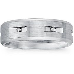 Cobalt Men's 1/6ct TDW Diamond Comfort Fit Band (H-I, I2)