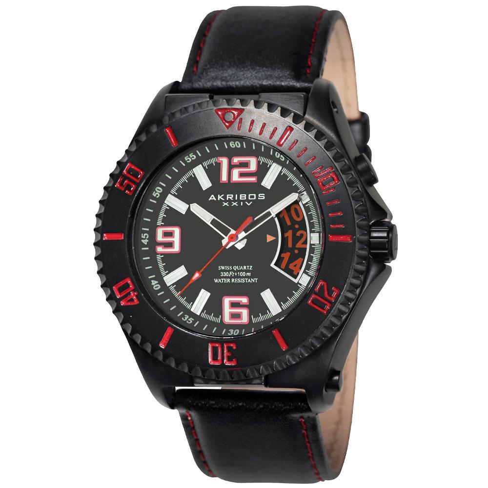 Akribos XXIV Men's Explorer Swiss Quartz Utility Sports Watch with White Numerals