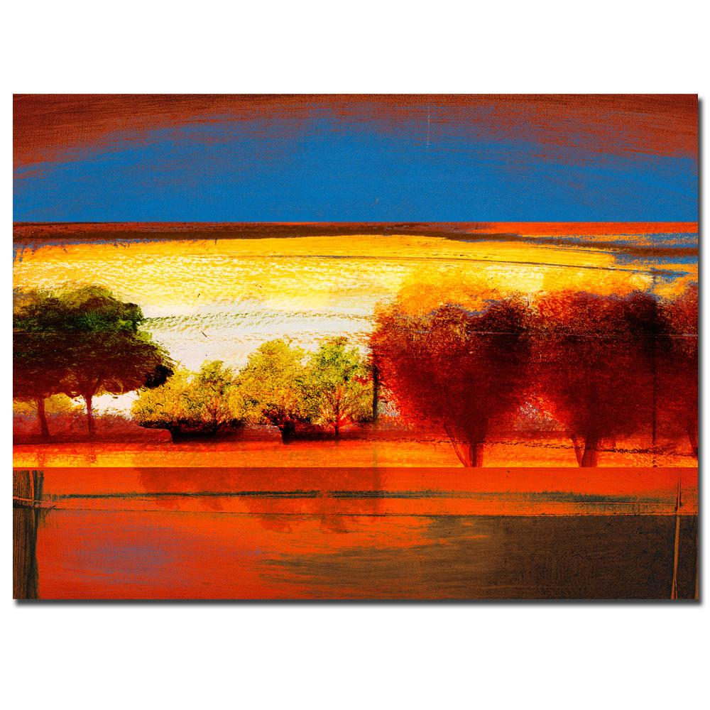 Miguel Paredes 'Red Dawn II' Canvas Art
