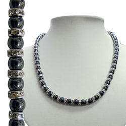 Magnetic Triple-strength Hematite Tuchi Pearl Necklace