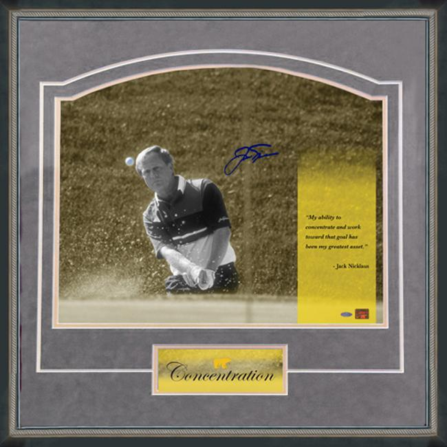 Steiner Sports Jack Nicklaus 'Concentration' Grey Framed 16x20 Photo