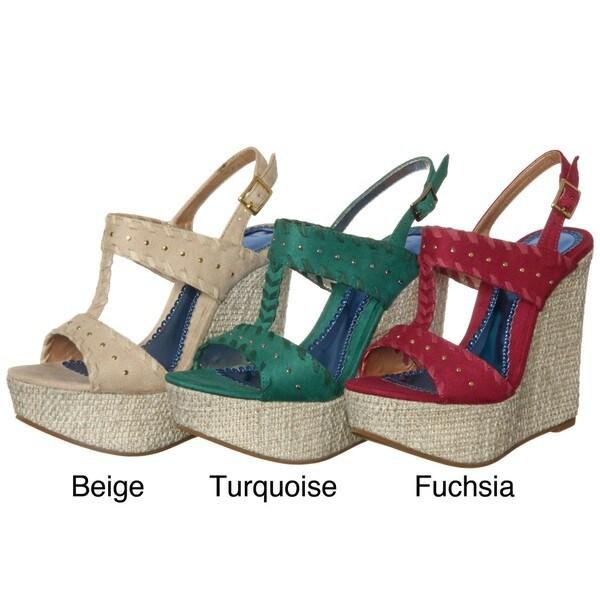 Luichiny Women's 'An Dree A' Platform Wedge Sandals