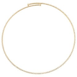 Celeste Goldtone Brass Crystal Coil Necklace