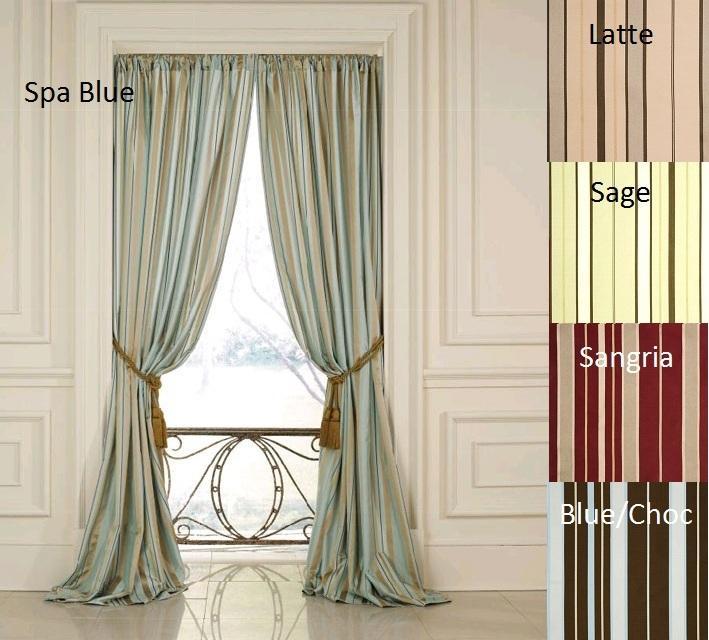 Dalia Faux Silk 84-inch Stripe Panel