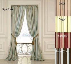 Dalia Faux Silk 84-inch Stripe Panel