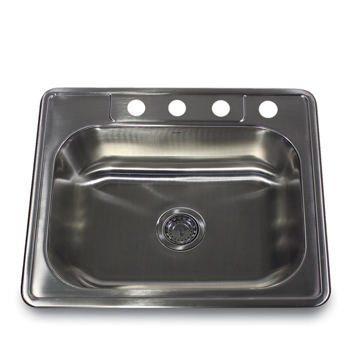 Stainless Steel Kitchen Sinks : Wells Sinkware Topmount Single Bowl Stainless Steel Kitchen Sink