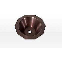 Highpoint Collection Copper 16.75-inch Decagon Dark Patina Vessel Sink