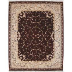 Nourison Hand-knotted Burgundy Legacy Rug (8'6 x 11'6)